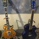 "Epiphone ""The Boneyard"" Joe Perry Edition & Washburn EA16MBL Acoustic/Electric Guitar"
