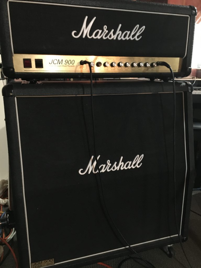 marshall jcm 900 guitar amplifier