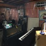 jam space panorama control area with keyboard and guitar amps