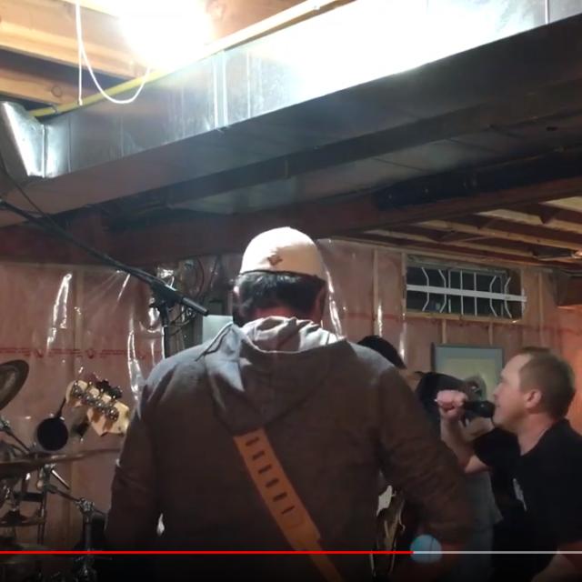 Spencer McLeod, Yan Fagnan, Justin Serink, & Ben Lever rehearsing Tweeter & The Monkey Man