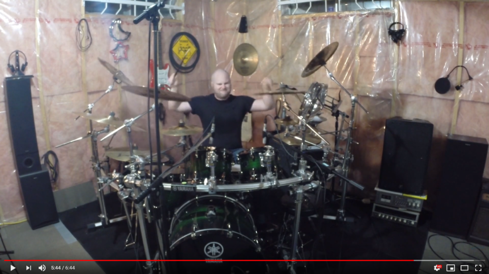 screenshot of spencer mcleod playing schism by Tool on the drums