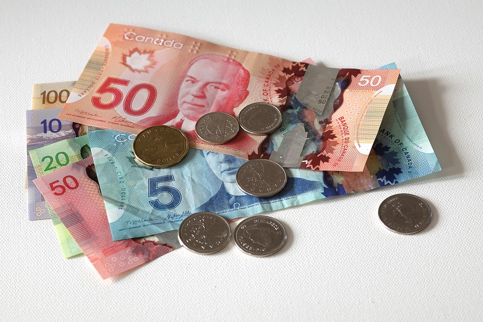 Canadian cash and coins