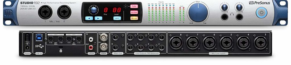 presonus studio 192 audio interface with ADAT