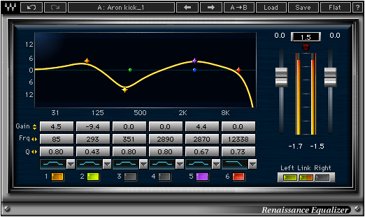 Screenshot of the Renaissance EQ