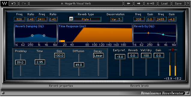 Screenshot of the Renaissance Reverb