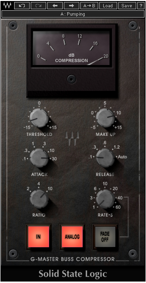 Screenshot of the SSL Master Buss Compressor